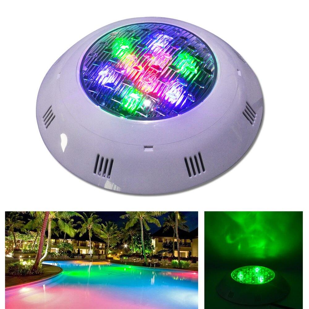 Jiawen 6 unids/lote 9 W 12 W DMX512 RGB natación piscina LED lámpara subacuática de las luces al aire libre iluminación estanque luces led piscina lámpara 24 V DC