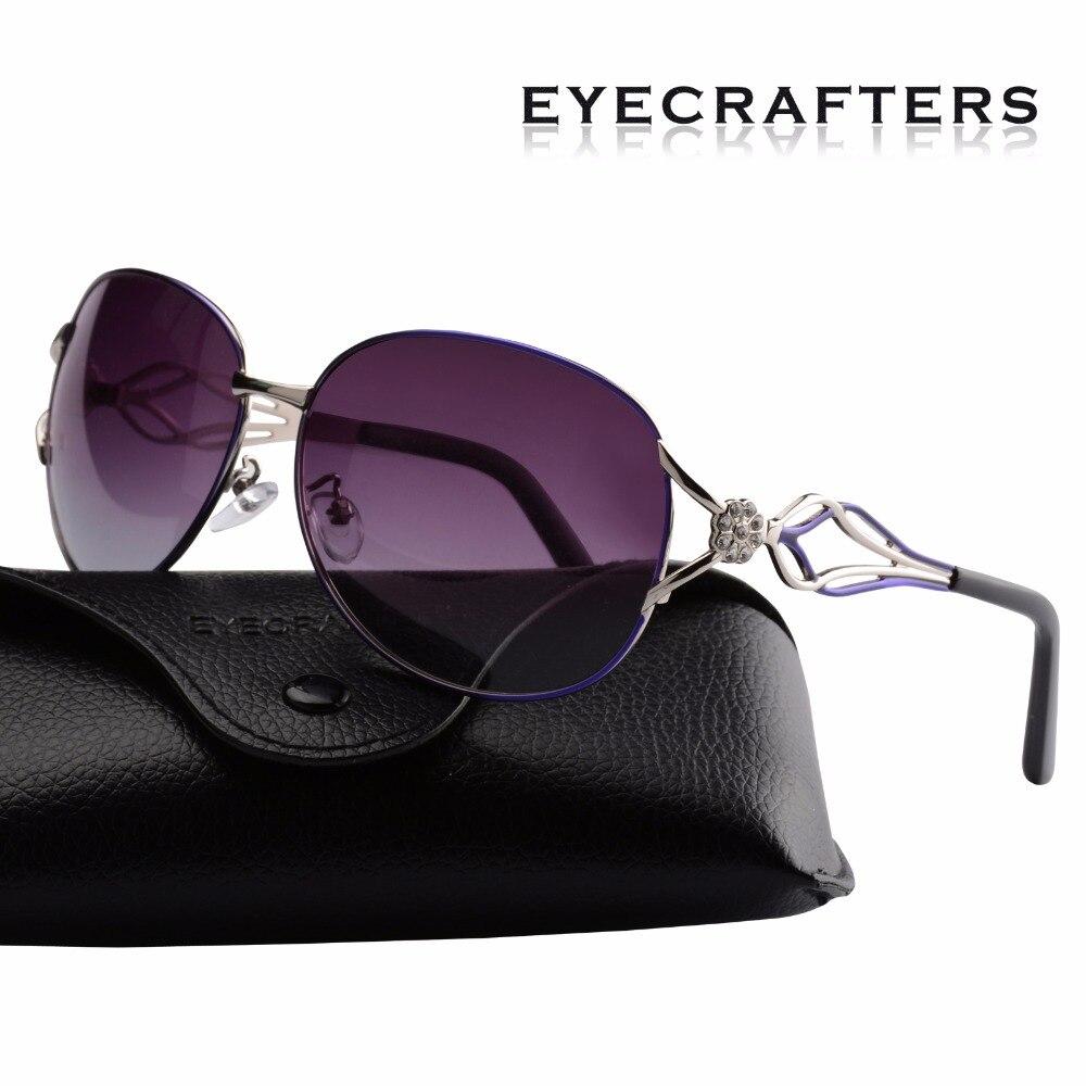 Eyecrafters, gafas de sol de lujo para mujer, gafas de sol polarizadas estilo Retro Vintage, gafas espejo para mujer, tonos púrpura