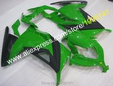 Kit vert noir populaire pour Kawasaki   Kit de carpette Ninja EX 300R 2013-2016 EX300 Ninja EX 300 13-16 (moulage par Injection)