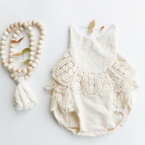 Emmaaby/кружевной комбинезон с открытой спиной для новорожденных девочек, летняя одежда