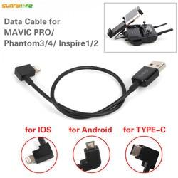 Usb-кабель для передачи данных для Iphone, IOS, Android, порт для DJI MAVIC PRO/Mavic 2/Platinum/Air/Phantom 4 3 Inspire 1/2, Дрон