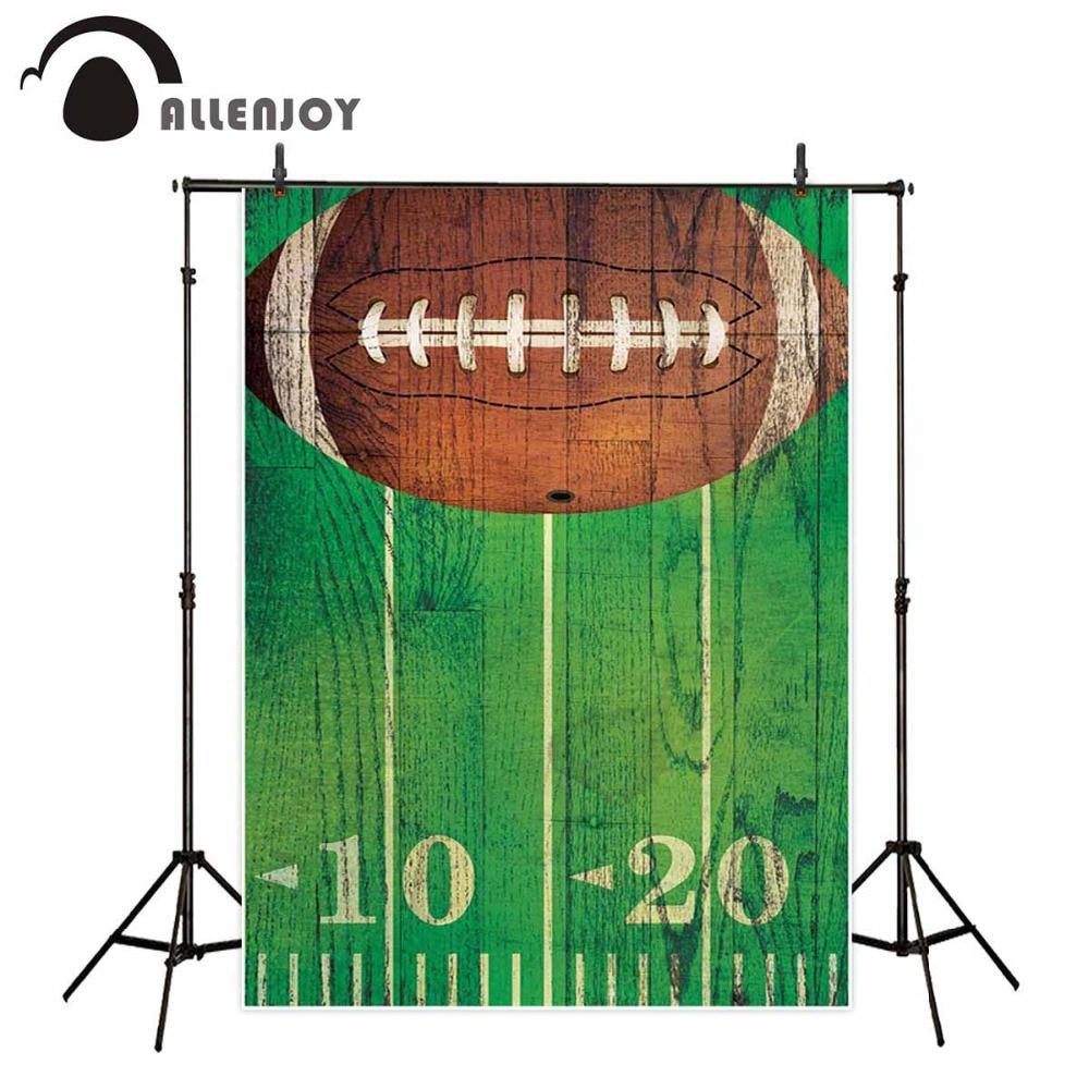 Allenjoy Американский футбол фон для фотосъемки спортивный винтажный деревянный декоративный фон для вечеринки Фотостудия