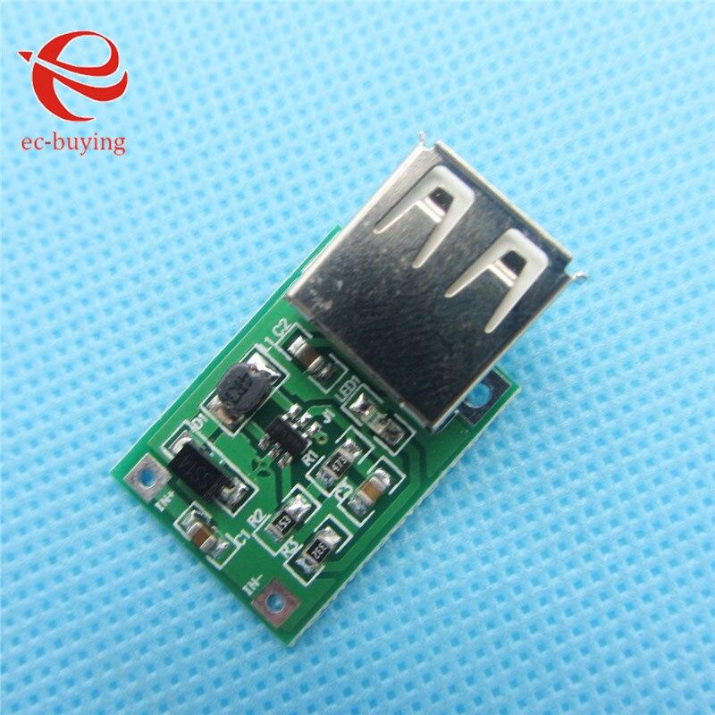 50 pçs/lote 0.9-5 v para 5 v carregador Saída USB intensificar Power Module Mini DC-DC 600MA Impulso conversor