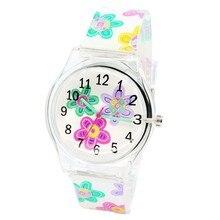 New Arrival Flower Clocks Children's Fashion Quartz Silicone Kids Watch Student Casual Relogio Horlo
