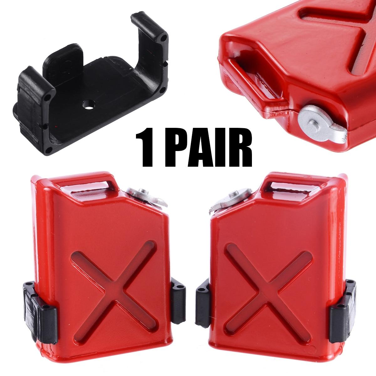 1 пара, весы 1:10 RC Rock Crawler, автомобильные аксессуары для автомобилей, красные газовые банки с кронштейнами, пластиковые декоративные детали для самостоятельного моделирования