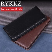 rykkz luxury leather flip cover for xiaomi 8 lite mobile stand case for xiaomi 8 lite mi 8 lite mi 8 leather phone case cover