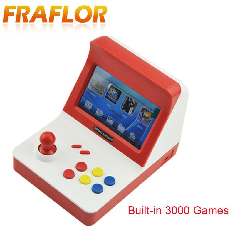 Más 64bit juego Consola basculante recreativos retro Video consola de juego construido en 3000 juegos de dos mandos mando dual música TV