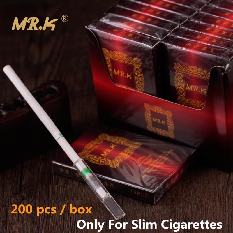 Mr. k Silm Cigarros com Filtro Titular 200 pcs Value Pack Reduzir O Alcatrão ea Nicotina Filtro Bocal Titular de Três Estágios de Filtração