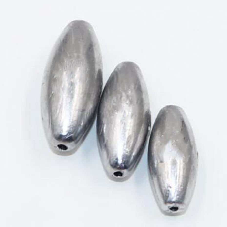 YINGTOUMAN 2 unids/lote 3 g Plomada hueca Forma de oliva Gancho explosivo...