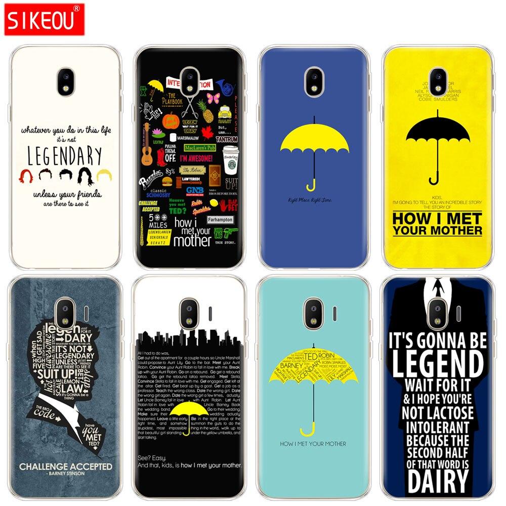 Funda de teléfono de silicona para Samsung Galaxy J3, J5, J7, 2017, J330, J530, J730, j2, 2018, cómo met a tu madre con citas himym