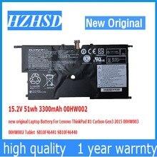 15.2 V 51wh 3300 mAh 00HW002 00HW003 dorigine batterie dordinateur portable Pour Lenovo ThinkPad X1 Carbone Gen3 2015 00HW003 SB10F46441 SB10F46440