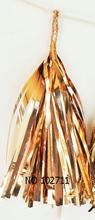 Guirlande de pompons scintillants or Rose   Décor de réception de bébé, de mariage, de fête, de chaise, longue x 25cm, 14