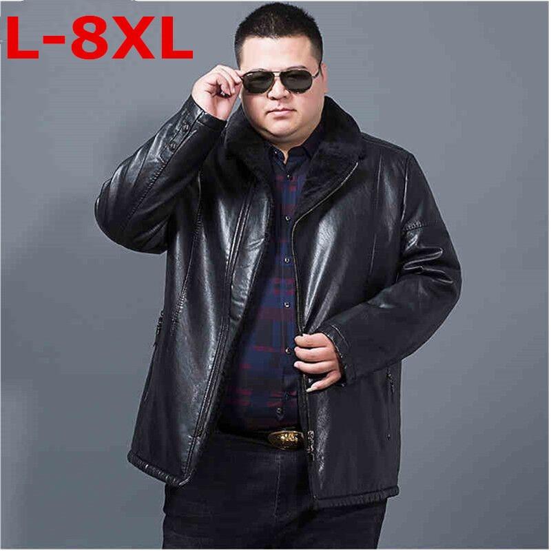 10XL 9XL 8XL Winter Men Geniune Leather Jacket Male Lapel Cashmere Coat Men Sheepskin Warm Jacket Male Brand Top Quality Coat