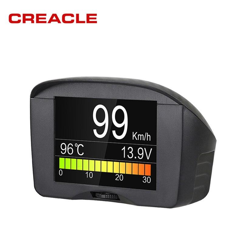 Autool X50 Plus, medidor Digital inteligente OBD para coche, alarma, medidor de temperatura del agua, medidor de velocidad de voltaje Digital, pantalla multifunción