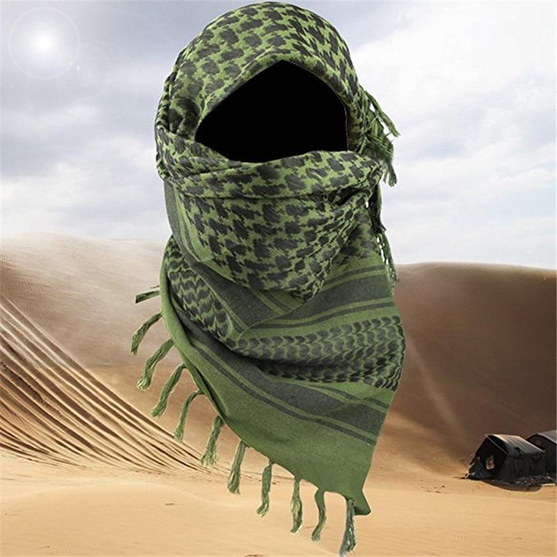 """Арабский шарф, хлопковый военный шемаг Keffiyeh 34 """"x 34"""", тактический шарф в арабском стиле, шаль, накидка на шею, головной убор для мужчин и женщин, походный шарф"""