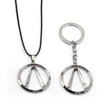 Jeu Borderlands porte-clés collier pendentif métal tour de cou corde chaîne porte-clés enfants cadeau bijoux