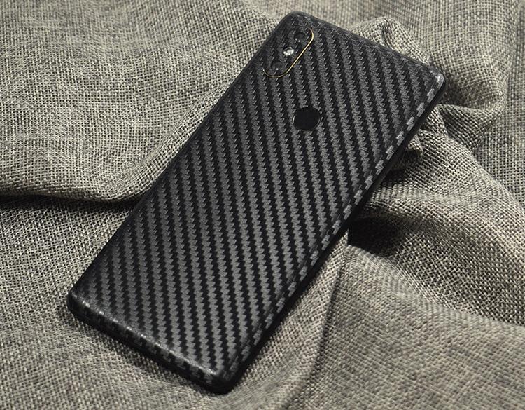 3D Carbon Fiber Wooden Skins Film Wrap Skin Phone Back Sticker For Xiaomi Play Mi9/MIX3/2S/Mi8 SE/Mi6X/Redmi 6 Pro/Note 5 Pro
