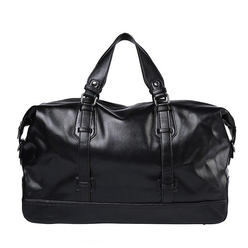 Bolsos de viaje a la moda para hombre, maletas impermeables, bolsa de lona, bolsas de gran capacidad, bolso de cuero informal de alta capacidad