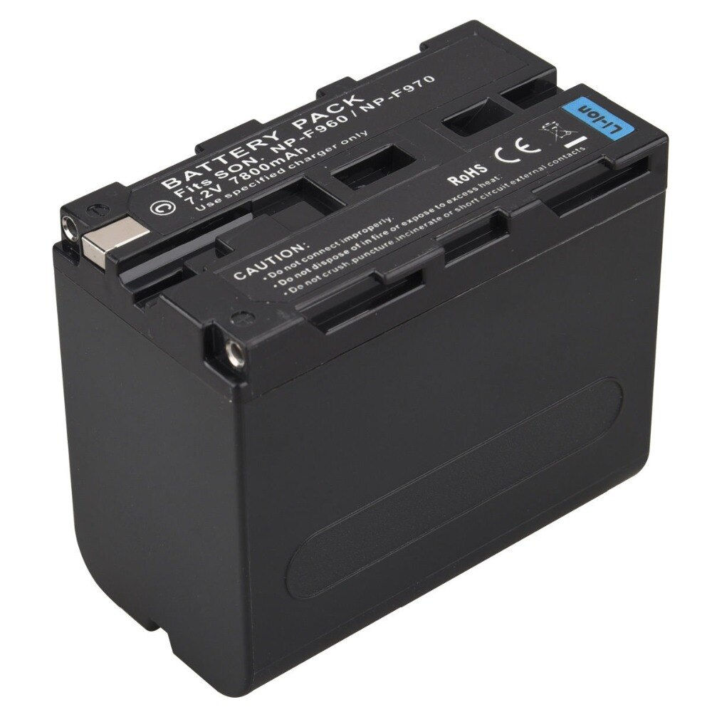 GTF de alta capacidad 7,2 mAh 7800 V NP-F960 NP-F970 Cámara Paquete de batería para Sony F960 F970 batería recargable