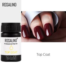 ROSALIND 15ml couche de finition ongle apprêt protéger ongles manucure Gel laque garder Nail Art longue durée tremper hors UV Gel vernis à ongles