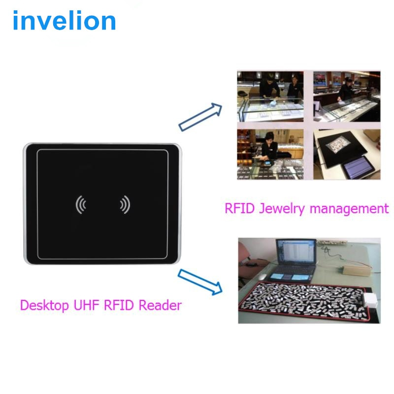 10cm-1.5m uhf rfid reader USB interface for library check in check out book management