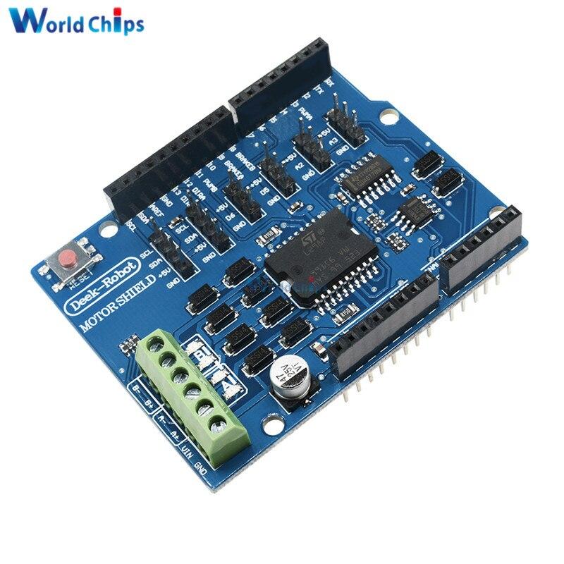 L298P L298 щит R3 двигатель постоянного тока драйвер Shiled плата модуль 2A двойной полный мост h-мост 2 пути для Arduino UNO реле 5V 12V