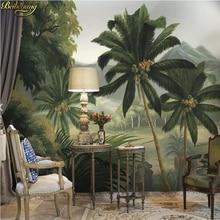 Papel pintado personalizado beibehang, mural de pared con foto medieval, bosque, río, selva tropical, para sala de estar, dormitorio, papel tapiz 3D