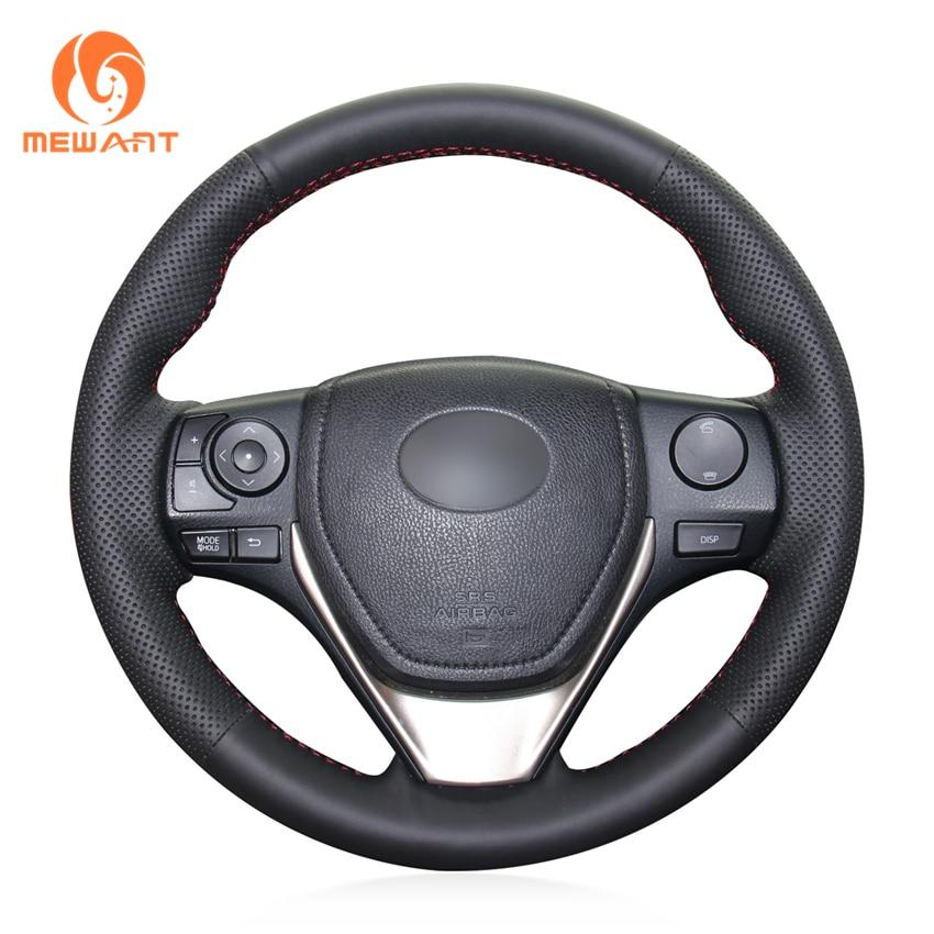 Funda para volante MEWANT de cuero Artificial negro para Toyota RAV4 2013-2019 Corolla 2014-2019 Corolla iM (US) Scion iM 2016