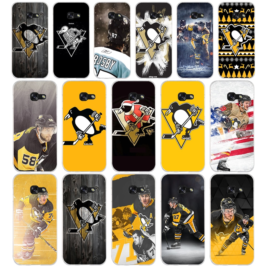 80SD alta calidad Pittsburgh pingüino suave silicona Tpu cubierta teléfono funda para Samsung a3 a5 a6 plus a7 a8 a9 star lite s 6 7 8 9
