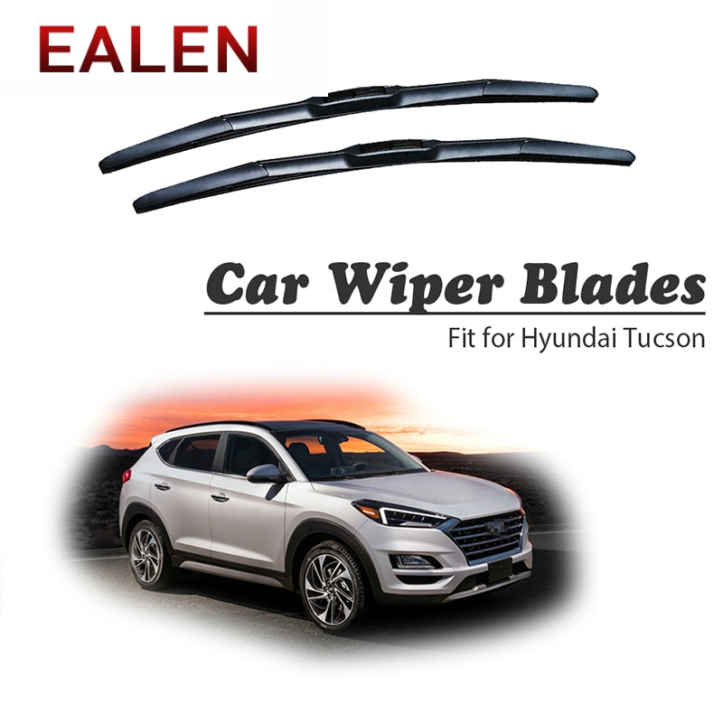 EALEN para Hyundai Tucson MK1 MK2 MK3 2017 2016-2004, accesorios originales para parabrisas, 1 Juego de Kit de limpiaparabrisas delantero de goma para coche