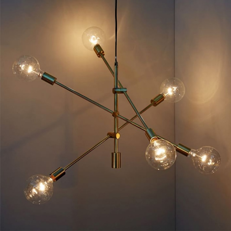 Modern hanging lamp light LED dinning bed room bedroom foyer round glass ball black gold nordic simple modern pendant light lamp  - buy with discount