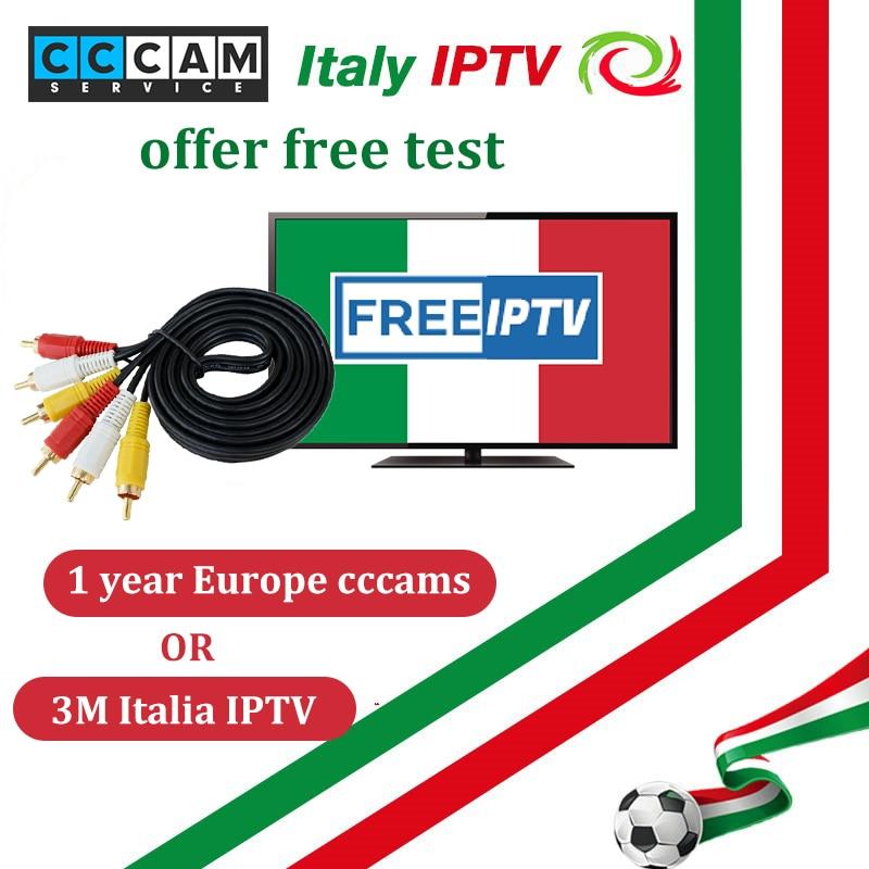1 year free Europe cccam 7 c-line for DVB-S2 IKS Receptor Satellite TV receiver/Italia IPTV 600+Live TV m3u8 engima2 mag box