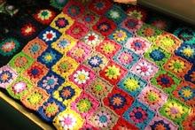 Offre spéciale bricolage Multi couleurs coussin à la main crochet de mode couverture marguerite fleur coussin feutre style pastorale