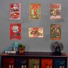 Affiches Vintage en métal   Plaque murale de Garage, Pin-up fille, Garage Muscle voiture homme Cave murale, affiche de Garage Pub Bar décoration murale de maison