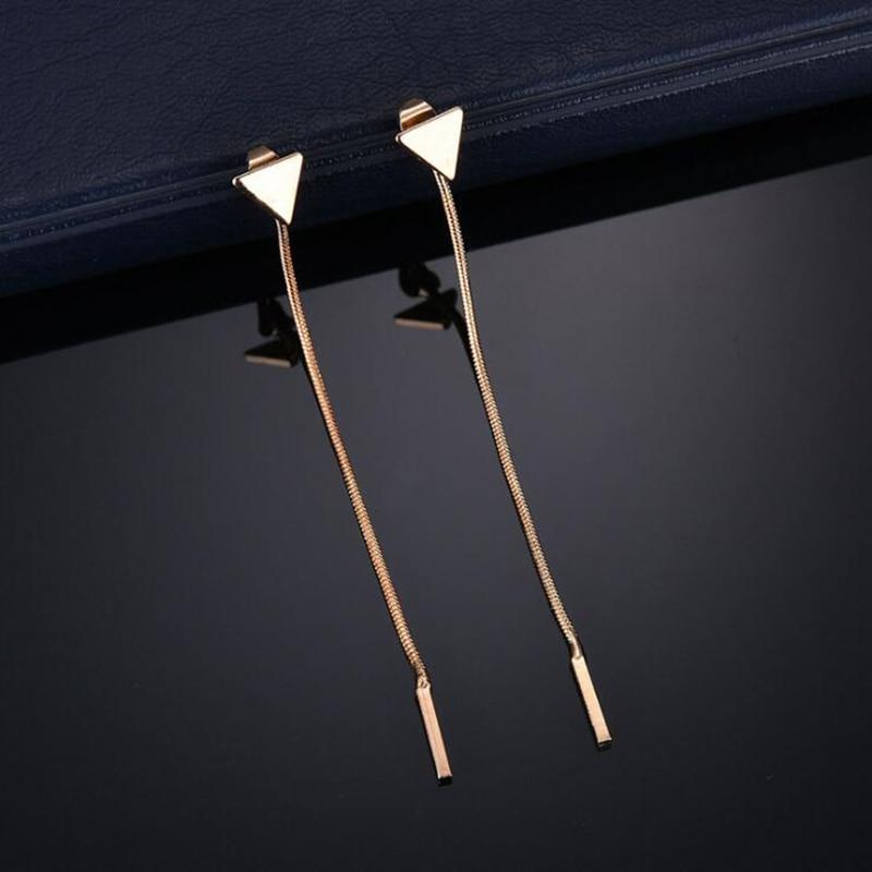 Նորաձեւության եռանկյունի ականջօղեր - Նորաձև զարդեր - Լուսանկար 4