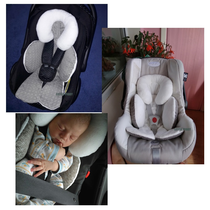 Waterproof baby stroller cushion mats car seat accessories head support belt shoulder-sided protecti