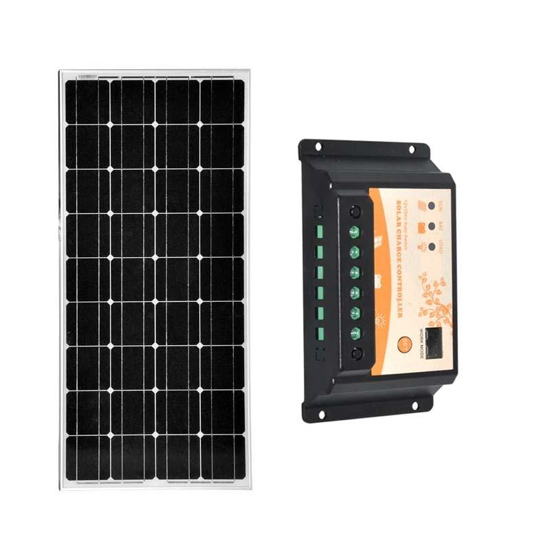 Panel Solar 100w 12v Batterie Solaire Solar Charge Controller 12v/24v 20A Yacht Boat Marine Caravan Solar Charger For Mobile