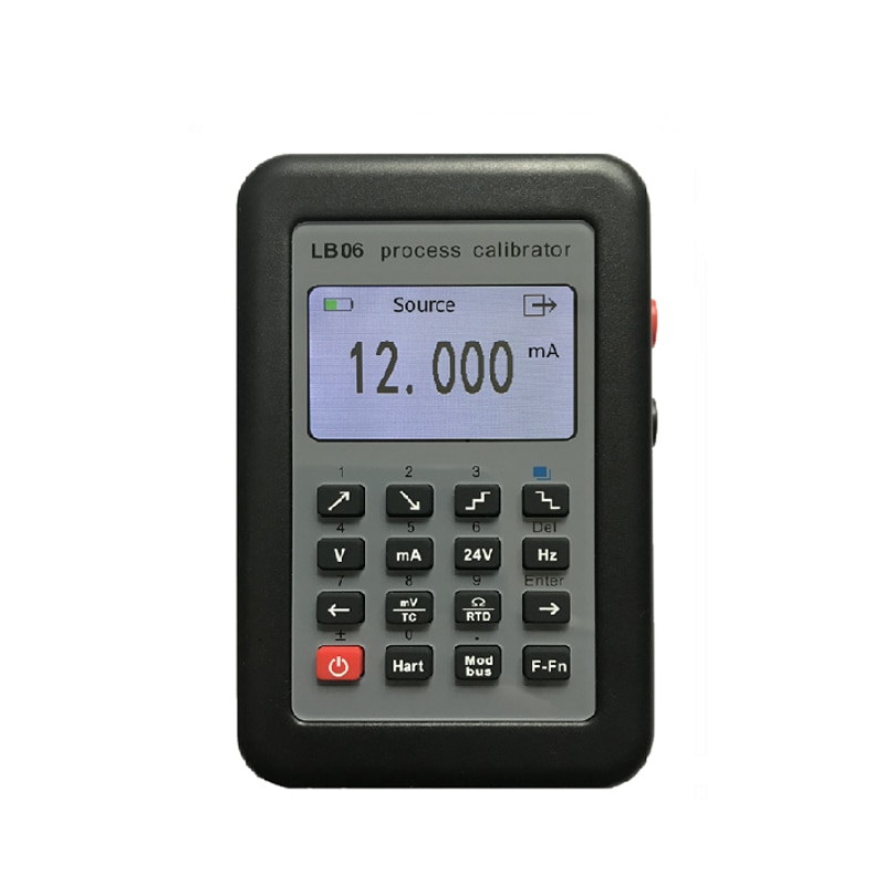 Generador de señal HART Modbus 4-20mA/calibración de fuente de señal 0-10 V/mV/termopar/pantalla LCD LB06