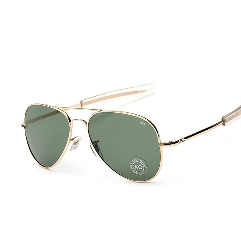 Fashion Aviation Sunglasses Men Brand Designer AO Sun Glasses For Male American Army Military Optica