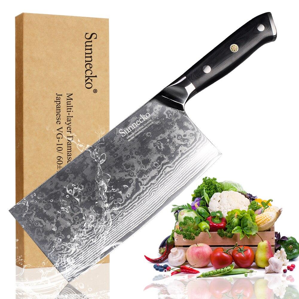 "SUNNECKO 7 ""pulgadas cuchillo cortar cuchillo de acero de Damasco nuevo alta calidad chino cuchillos de corte VG10 de cocina Chef helicóptero"