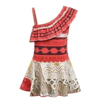 girls summer moana cosplay dress children dress up costumes fancy outfits for baby girl beach dress for holiday moana acessories