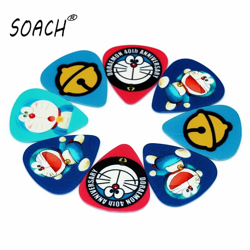 SOACH, 10 Uds., púas de guitarra de 0,71mm de alta calidad, ukelele de dos lados de púas, pendientes DIY, mezcla de púas, accesorios de guitarra