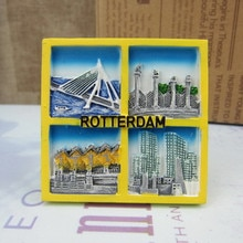 Netherlands Fridge Magnet Rotterdam Holland Tourism Souvenirs Fridge Magnets Craft Travel GIFT IDEA Home Decoration