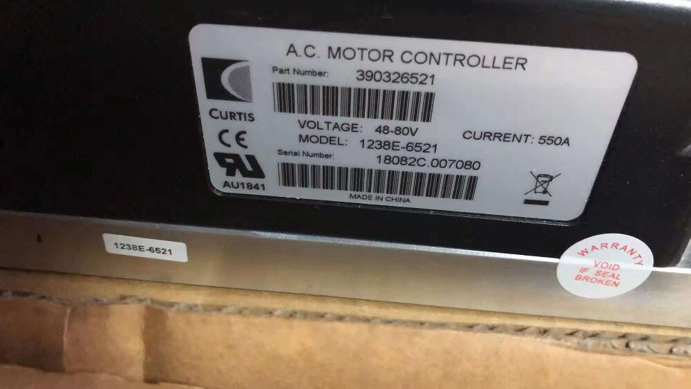 1238E-6521Curtis AC Motor Controller 48-80V 450A for Golf Cart Eelctric Forklift enlarge