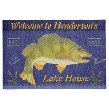 Personalidad LAGO casa rústica náutica Bass Fish   nombre personalizado felpudo decoración del hogar entrada no de salida de escape Mat goma lavable