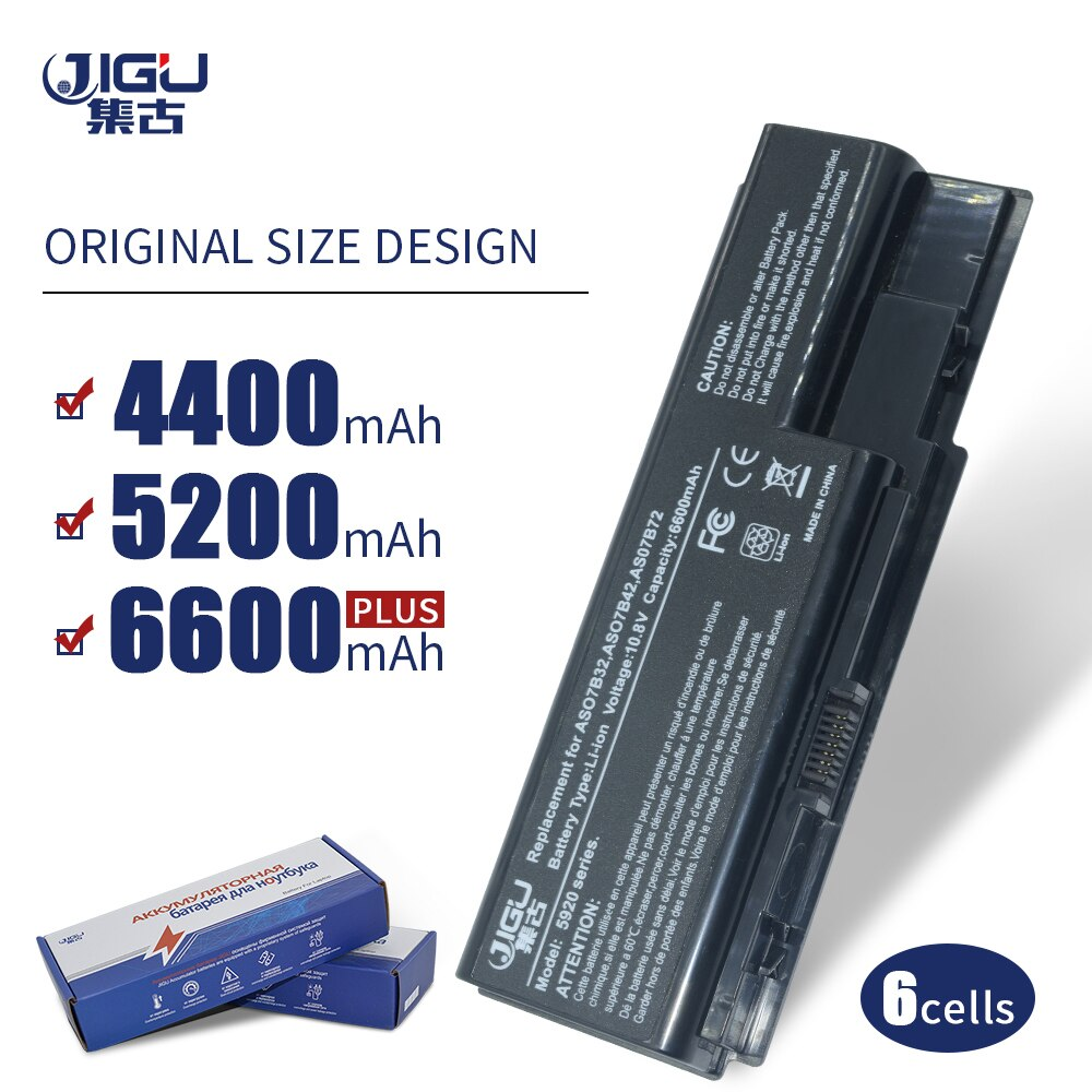 JIGU de batería para Acer Aspire 5300, 5310, 5315, 5320, 5330, 5520,...