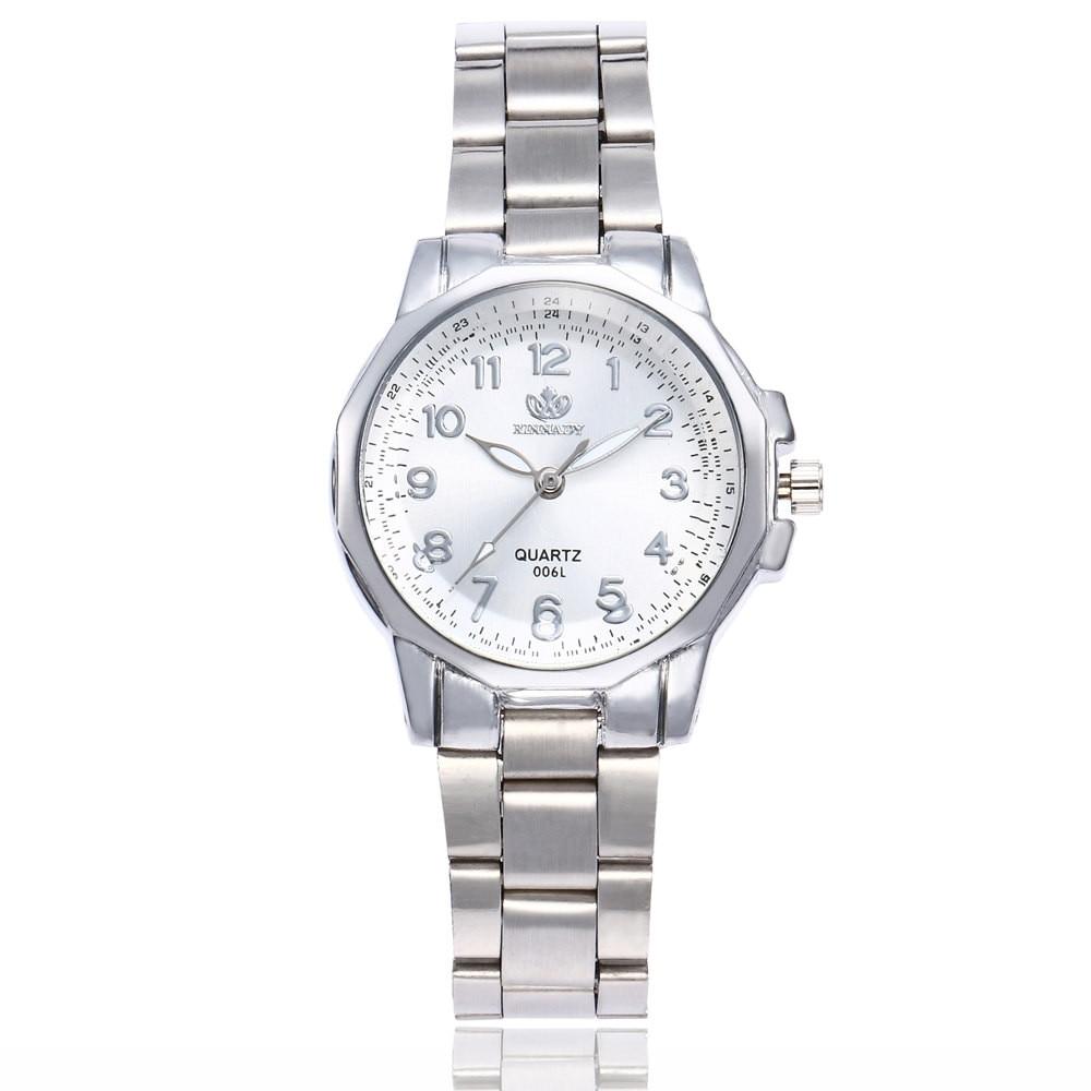 Часы женские, модные, из нержавеющей стали, аналоговые, кварцевые, Круглые, наручные часы, роскошный браслет