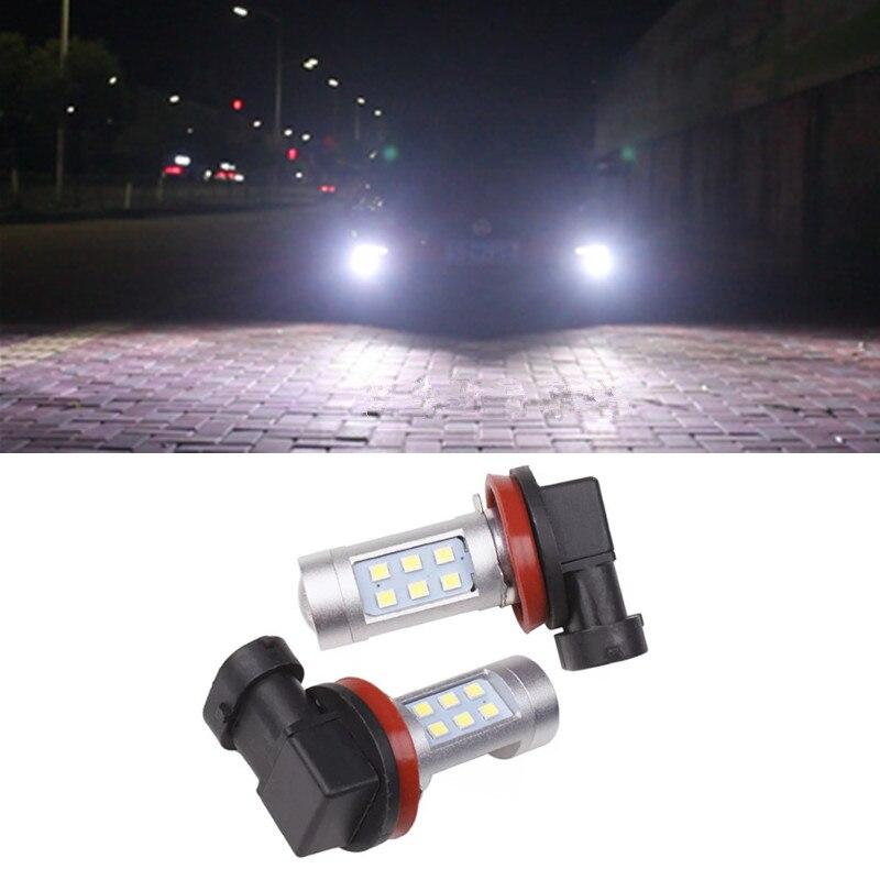 2x H8 H11 Auto LED nevoeiro luzes diurnas lâmpada para Subaru Forester Impreza Legado B9 BRZ XV justy padrão