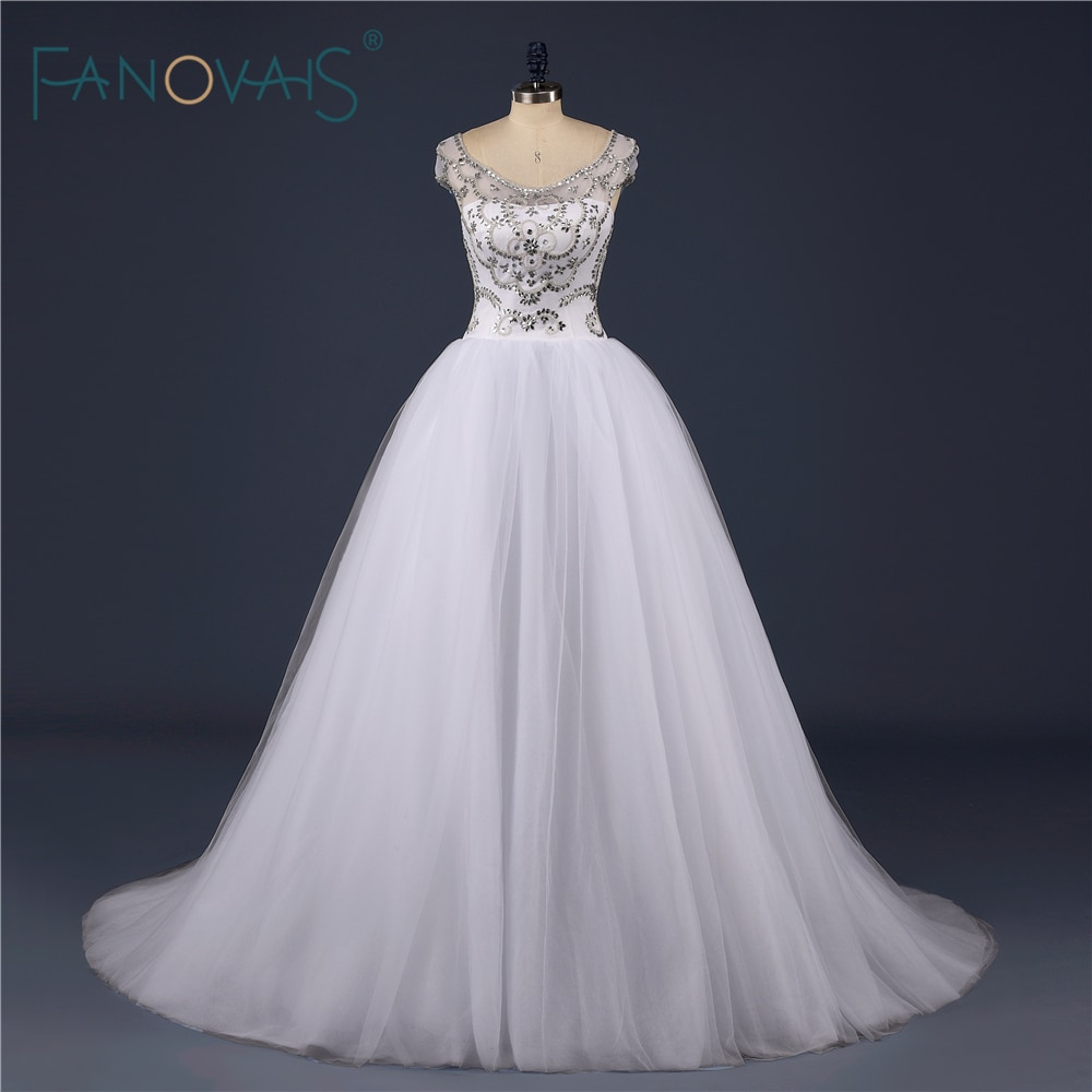 2019 vestido boda muestra Real de talla grande mangas cortas vestido de...