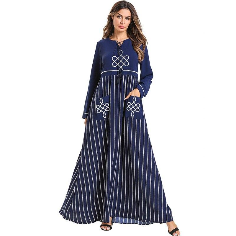 Abayas para damas 2019 Kaftan Abaya Dubai Turquía musulmán vestido hijab Robe Jilbab Ramadán caftán Elbise ropa islámica turca